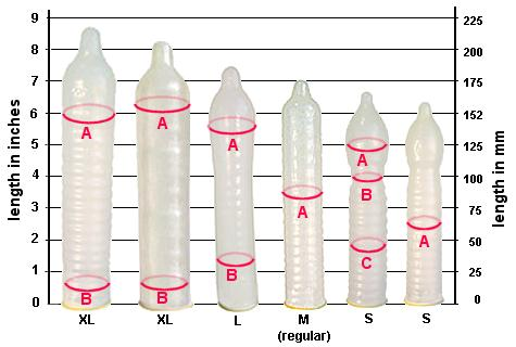 variety in condom sizes
